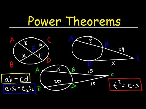 Power Theorems - Chords, Secants & Tangents - Circle Theorems - Geometry