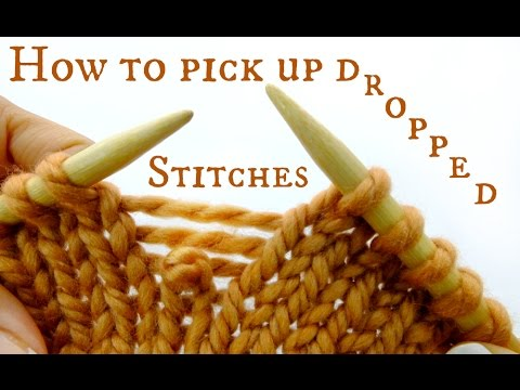 How to pick up a dropped stitch - Easy & Quick Knitting Tutorial