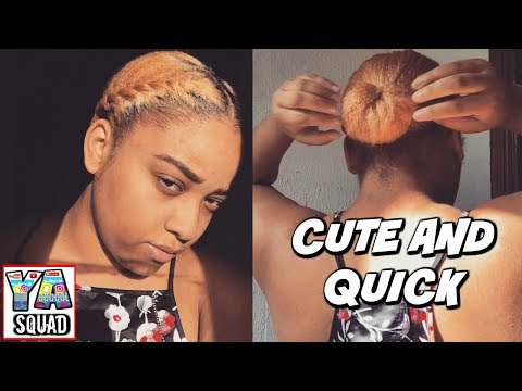 CUTE AND QUICK NATURAL HAIR STYLE FOR SHORT HAIR