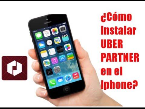 ¿Cómo instalar uber partner en el Iphone?