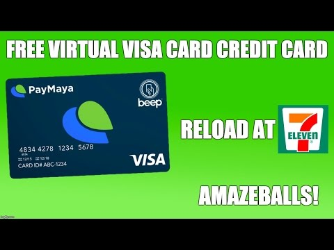 Virtual Credit Card - Paymaya Philippines