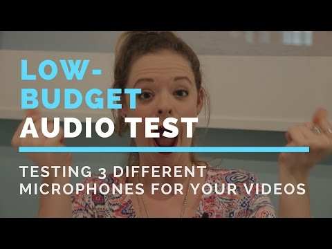 Testing Three Different Microphones for Your Videos- Low-Budget Audio Test- Paige Media