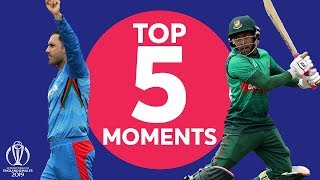 Nabi? Shakib? | Bangladesh v Afghanistan - Top 5 Moments | ICC Cricket World Cup 2019