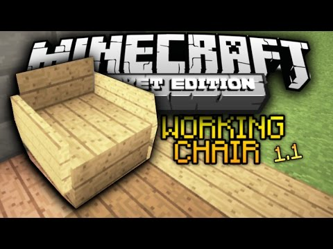 HOW TO MAKE WORKING CHAIRS IN MINECRAFT POCKET EDITION 1.0.4.1(no mods)(no add-ons)