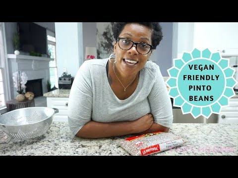 EASY & VEGAN FRIENDLY PINTO BEANS AND RICE | COOK WITH ME |