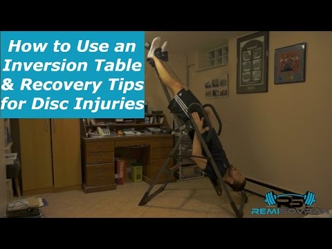 How to Use an Inversion Table | Recovery Tips for Disc Bulge & Disc Herniation