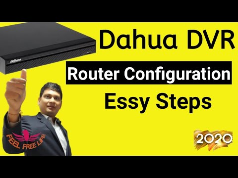 How to Online/Config  Dahua DVR/NVR With Router Easy Method