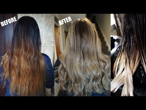 HOW TO BALYAGE HAIR AT HOME | FIX ORANGE HAIR