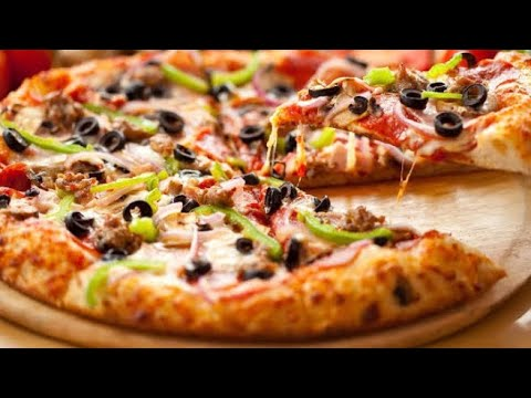 Make Veg Pizza in microwave/Convection oven