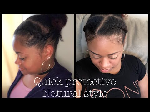 Quick Protective Hairstyle | Natural 4 type hair