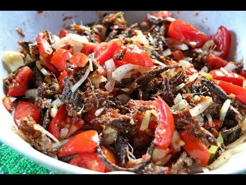 Smoked Herring Choka (salad) #TastyTuesday | CaribbeanPot.com