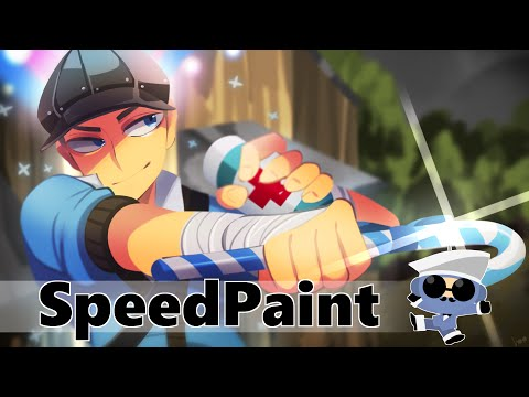 SPEED PAINT #7 - TF2 Pinstripe's loadout