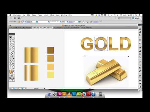 Adobe Illustrator Gradient GOLD text, logo