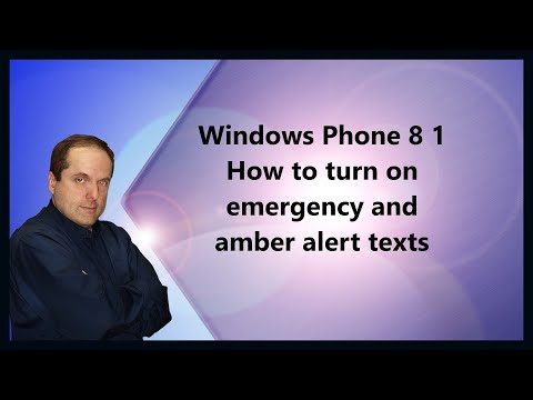 Windows Phone 8 1 How to turn on emergency and amber alert texts