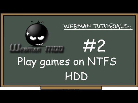 PS3 - webMAN Tutorial #2 Play games on external NTFS HDD! how to Convert, add & play