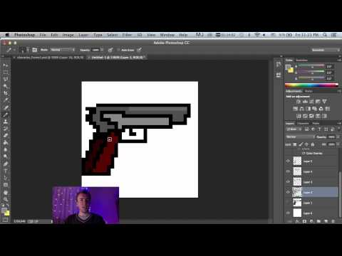How To Make 2D Pixel art for unity 3D using photoshop cc tutorial - HTMMG