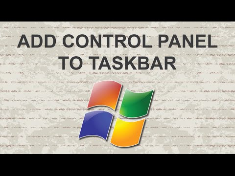 How to add a Control Panel shortcut to the Windows 7 taskbar