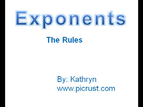 Exponent Basics - with proofs