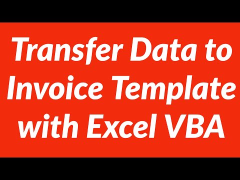 How to transfer data to invoice template automatically with Excel VBA