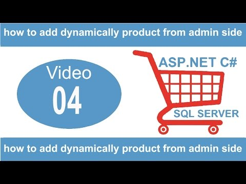 how to add dynamically product from admin side in asp net c# project
