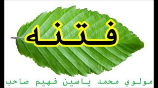 فتنه, Maulana Mohammad Yasin Fahim, Islami Pashto Bayan