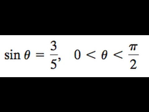 Find the double angle and half angles of the sin and cos of sin theta = 3/5