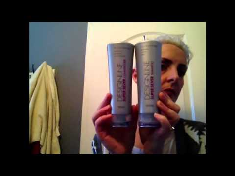 How to maintain white blonde hair using purple shampoo and conditioner