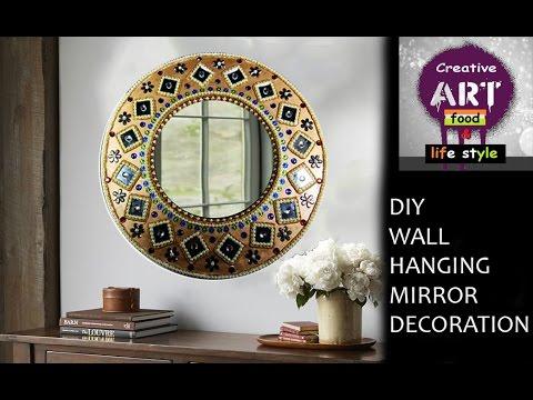 DIY Wall hanging mirror decoration | Room Decor | Art with Creativity
