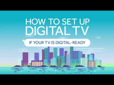 How to set up your TV (digital-ready) – English