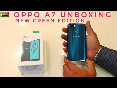 Oppo A7 Green Edition Unboxing
