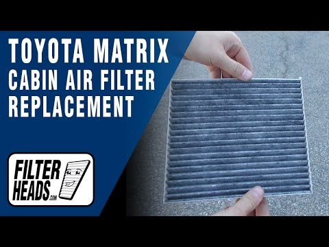 How to Replace Cabin Air Filter 2003-2008 Toyota Matrix