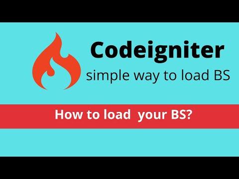 Add bootstrap 4 in codeigniter
