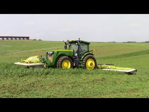 2017 First Cut of Hay with Big Tractor Power
