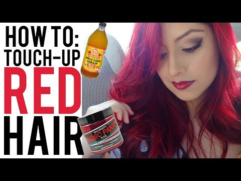How to Retouch Red Hair With MANIC PANIC VAMPIRE RED