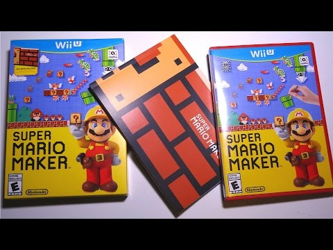 Unboxing: SUPER MARIO MAKER for Wii U with Idea Book