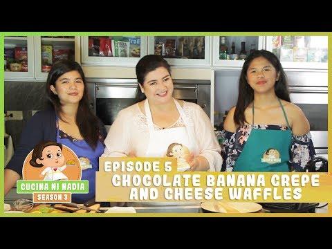 Cucina Ni Nadia 3 Chocolate Banana Crepe And Cheese Waffles