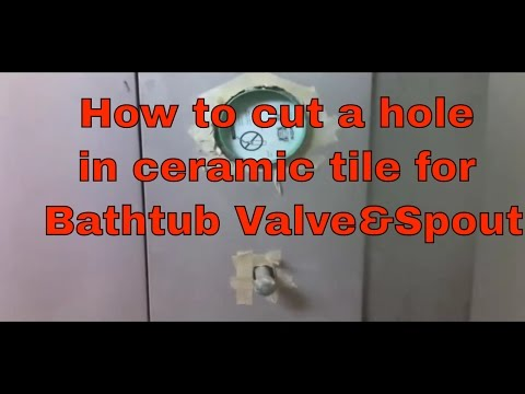 How To Cut  Hole In Ceramic Tile For Bathtub Valve & Spout Fast  Dave Blake Licesne Tile Contractor
