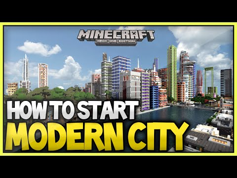 Minecraft Best Way To Build/Start A Modern City - 2015/2016 (XboxOne/Xbox360/Ps3/Ps4)