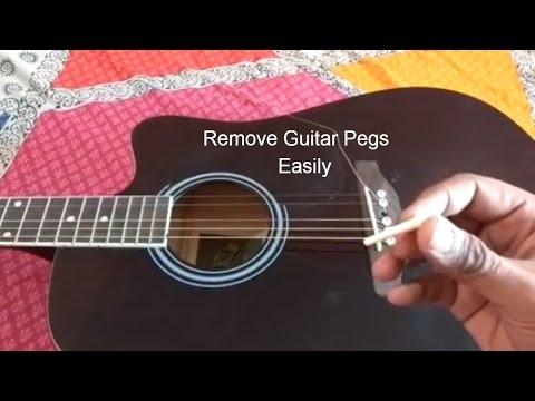 Guitar strings Pegs Removal Simple hack