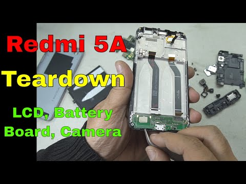Redmi 5A Teardown: How to replace Battery, Board, Vibrator, RF cable, Camera, LCD etc..