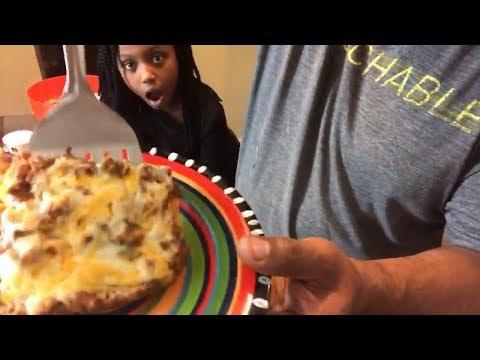Mexican enchilada lasagna Recipe with Guacamole Sour Cream | Layered Ground Beef Enchiladas Recipe