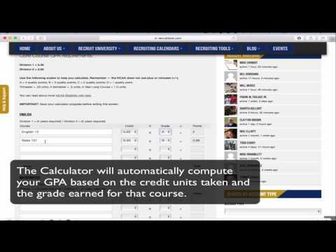 NCAA Core Course GPA Calculator