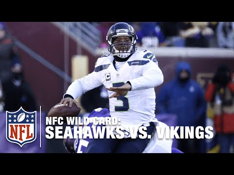 Russell Wilson Turns Bad Snap into a Big Play! | Seahawks vs. Vikings | 2015 NFC Wild Card