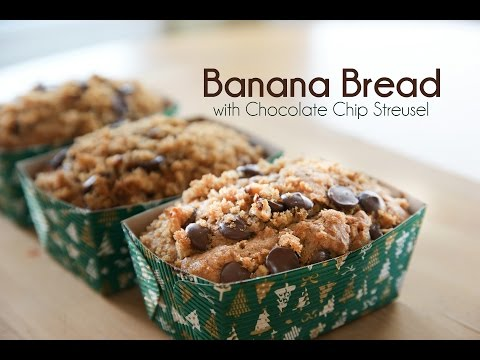 Banana Bread with Chocolate Chip Streusel