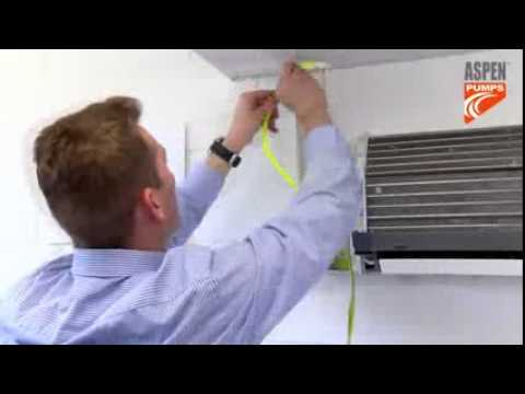 Install of mini lime condensate pump in a wall air conditioner