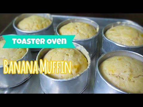 Toaster Oven Banana Muffin