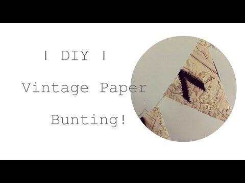 | Homemade Vintage Paper Bunting Tutorial | WhoIsJosieWho |