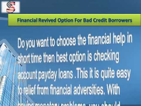 Checking Account Loans - Get Online Deal To Handle Your Cash Worries