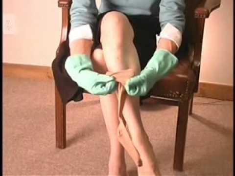 How to put on compression stockings - Heel Pocket Method