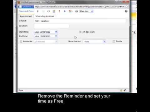 Outlook Web App (OWA) Training Video 7
